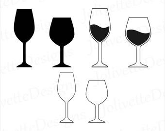 Wine, Wine Glass, Glasses, Clip Art, Clipart, Design, Svg Files