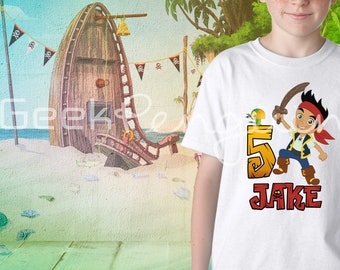 Jake and the Neverland Pirates shirt, Jake and the Neverland Pirates Birthday Shirt, Jake and the Neverland Pirates Party, Custom Made shirt