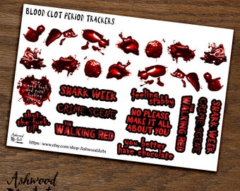 Period Tracker Blood Clots Planner Stickers