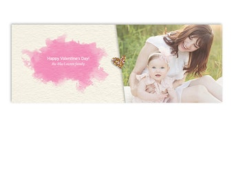 Valentine's Day Facebook Cover Template - Heart of Gold - 1230