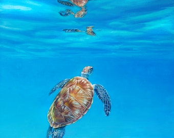 Sea Jewel - Sea Turtle - Limited Edition of 95 Signed and Numbered Giclee Print