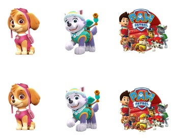 Paw Patrol Edible Party Image Cupcake Topper Frosting Icing Sheet Circles