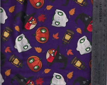 Angry Birds Halloween Fabric by the yard