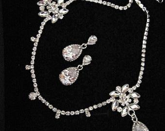 Crystal forehead band Kim Kardashian wedding band Earrings Bridal 1920s Headpiece, wedding hair accessories