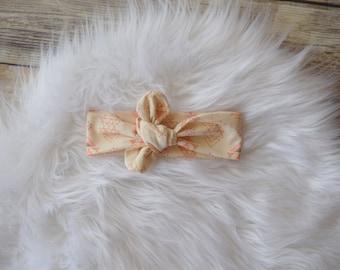 Pink Triangle headband. triangle knot headband.Pink triangle, knot headband, turban headband,