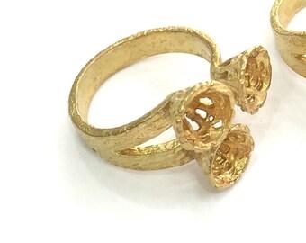 Raw Brass Adjustable Ring Blank (6 mm Blank)   G3708