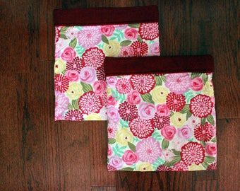 Plum Spring Flowers - Double Snuggle Sack Set for Small Animals