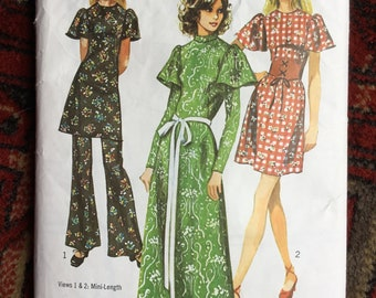 Vintage Simplicity Dress Flares Trouser top sewing Pattern 9469 bust 36