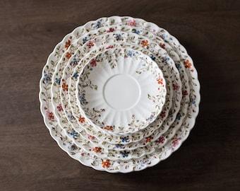 Vintage 1950s Copeland Spode Wickerdale Basket Weave Plates