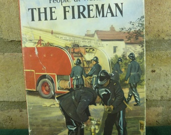 Vintage Ladybird book People at Work THE FIREMAN  series 606B with DJ 1st Ed