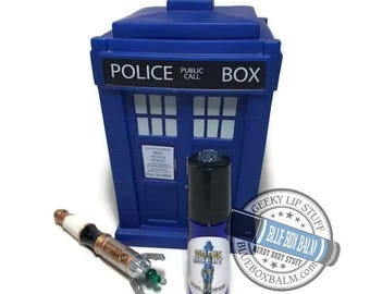 """Sonic Scent - GIRL POWER - """"Bill"""" Doctor Who Inspired Body Scent - A Sugar, Spice & Everything Nice Fragrance in a Blue Glass Roller Bottle"""