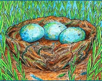 Nest Hand Made Card