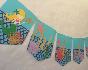 Under The Sea, Mermaid Birthday, Under the Sea Birthday Banner