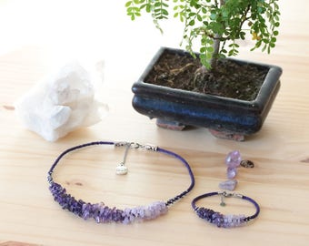 Be original in Kumihimo Japanese braiding and Amethyst necklace jewelry well - Aiko Creation
