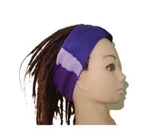 Purple patchwork adult headband bohemian.