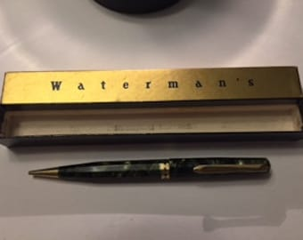 Watermans  Green & Pearl Pencil w/ Gold