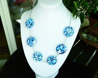 Necklace blue necklace/Aqua/blue necklace blue aqua/blue sky/long necklace long blue necklace/aqua blue sky/jewel aqua aqua/jewelry