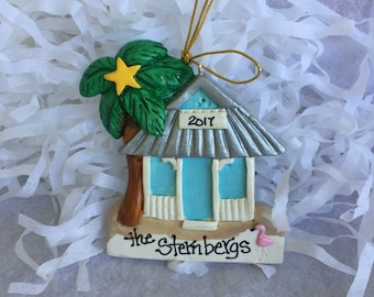 Personalized Florida beach house ornament/Florida/Vacation/Beach House/ Key West/Cottage