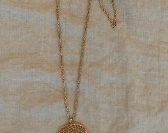 Gold Leaf on a long chain