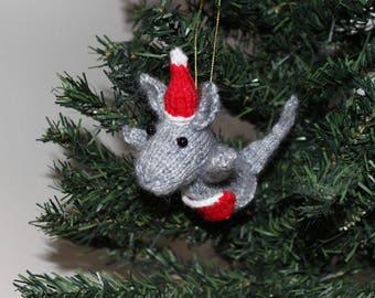 Knit Kangaroo Tree Ornament