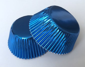 50 pcs Blue Aluminum Foil Liners 50 count wedding party cupcake liners liner Baking Cups Muffin Party Tools Supplies Food Craft Paper