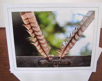 Photo Greeting Card | Handmade Card | Photo Note Card | Original Photography | Feathers