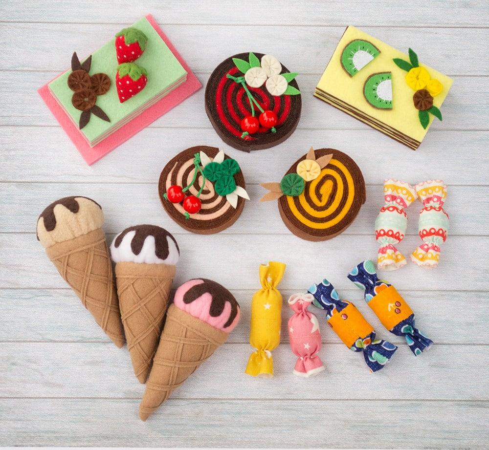 Filz Lebensmittel Set Puppenhaus Miniatur Puppe Essen Filz so