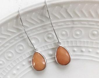 smoke earrings / amber //