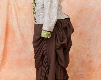 Historical Victorian Steampunk  Bustle Dress Size XL/XXL
