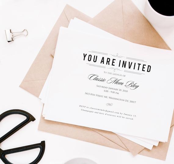 Rehearsal dinner invitations formal invites charity event stopboris Images