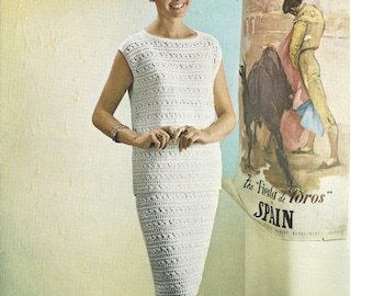 Bellmans 535 Vintage Evening Two Piece Top and Skirt Kitting Patterns