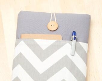 ipad mini cover / iPad mini retina sleeve / ipad mini case - chevron in grey -