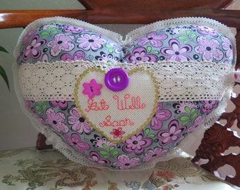 Get Well Soon Heart Pillow