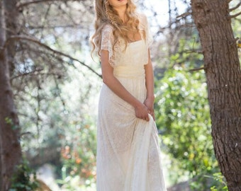 Bridal gown lace, Wedding dress lace, Bridal lace dress, Boho wedding lace dresses, Wedding dress Ivory lace, Bohemian wedding dress long