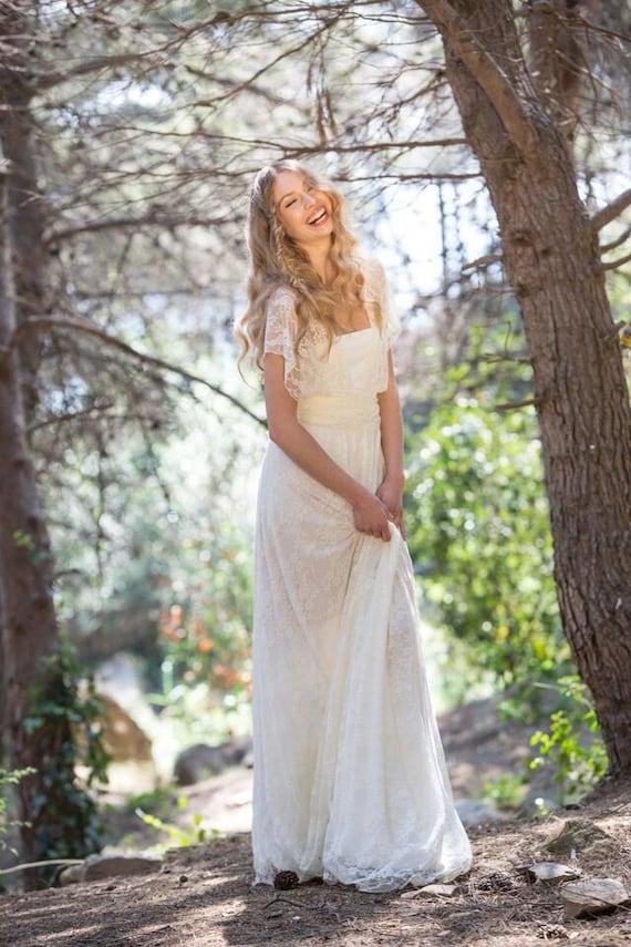 Vestido boho novia vestido novia encaje enlace vestido