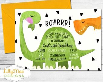 dinosaur birthday invitation Intoanysearchco