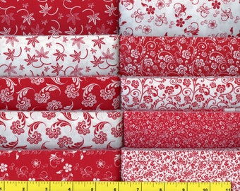 Red & White   Jelly Roll 40 - 2 1/2 inch strips - new combination