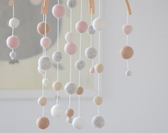 Natural and healthy baby mobile, baby mobile, mobile-pastel