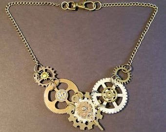 Steampunk Gears/Victorian necklace