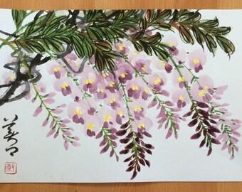 Original Chinese Painting-Blossom(Wisteria Blossom)