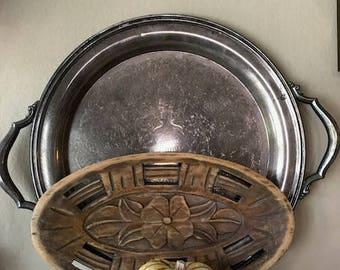 Wooden decorative tray Rustic, farmhouse decor
