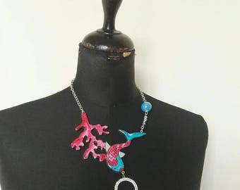 Animal mod. Fish and Coral line necklace