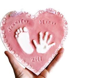 Les enfants et à la main et empreinte cadeau - souvenir de votre enfant - cadeau pour maman et papa - cadeau pour bébé - cadeau pour bébé - cadeau pour la mère du bébé
