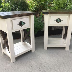Nightstand Pair, End table pair, Real Drawers