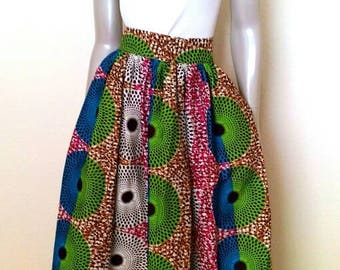 Colorful Maxi Skirt - African Wax Print