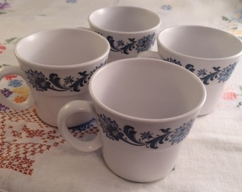Free Shipping!- Set of 4 Noritake Progression Stephanie Cups