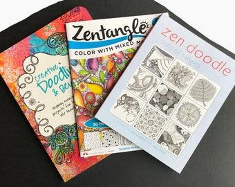 Set of 3 Tangling / Doodling Books