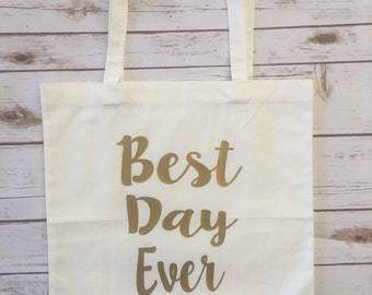 Best Day Ever Market Tote Bag / Tote / Shopping