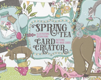 Spring Tea Card Creator - All in One Bundle