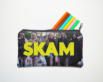 skam Zipper Pouch, Pencil Pouch, Pencil Case,